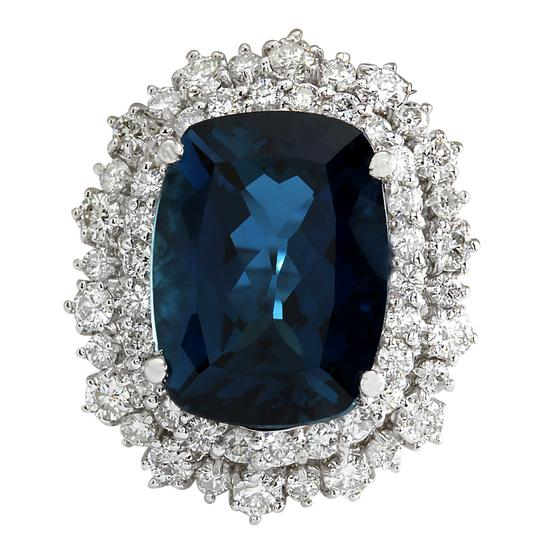 Preload https://img-static.tradesy.com/item/21244557/1402ct-natural-london-blue-topaz-and-diamond-in14k-solid-white-g-ring-0-0-540-540.jpg