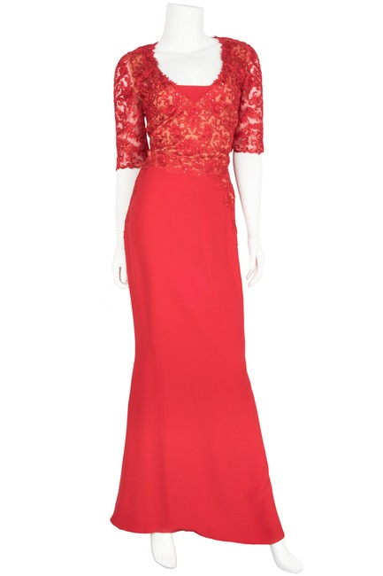 Preload https://img-static.tradesy.com/item/21244591/reem-acra-red-lace-evening-gown-long-formal-dress-size-8-m-0-0-650-650.jpg