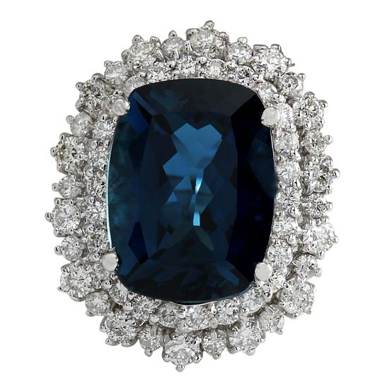 Preload https://img-static.tradesy.com/item/21244605/london-blue-1432-carat-natural-topaz-14k-white-gold-diamond-ring-0-0-540-540.jpg