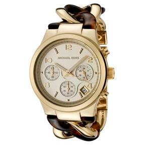 Michael Kors Michael Kors Chain Link Gold and Tortoise Watch MK4222