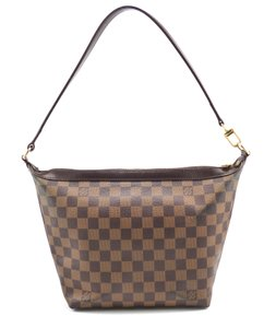 Louis Vuitton Damier Canvas Leather Canvas Shoulder Bag