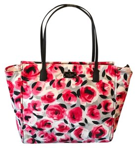 Kate Spade Oversized Large Tote Multifunction Tote Floral Roses Laptop Bag