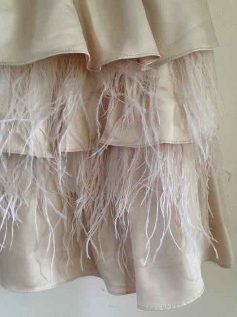 bebe Coktail Feathers Feather Skirt Short Dress