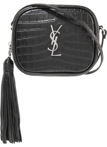Saint Laurent Monogram Blogger Ysl Tassel Croc Effect Cross Body Bag