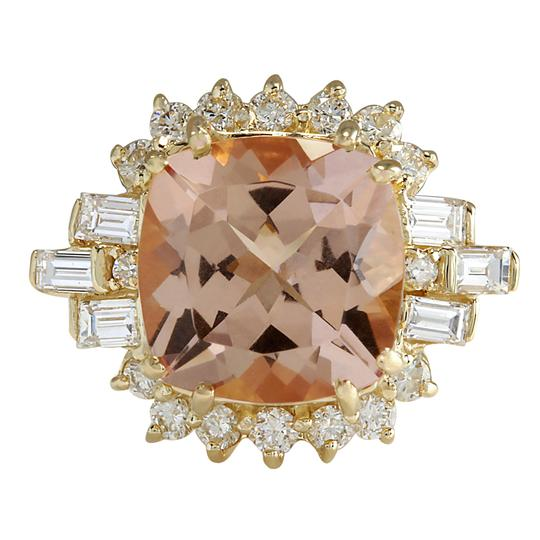 Preload https://img-static.tradesy.com/item/21244746/peach-723-carat-natural-morganite-14k-yellow-gold-diamond-ring-0-0-540-540.jpg