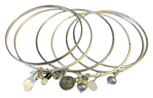 American Eagle Outfitters Ae Silver Charm Bangles