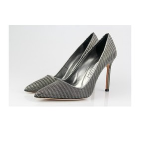 Manolo Blahnik Manolo Bb Manolo Silver Pumps