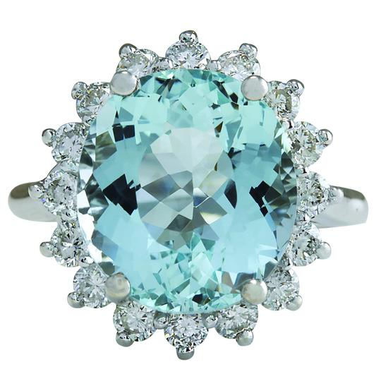 Preload https://img-static.tradesy.com/item/21244890/894ctw-natural-aquamarine-and-diamond-in-14k-solid-white-gold-ring-0-0-540-540.jpg
