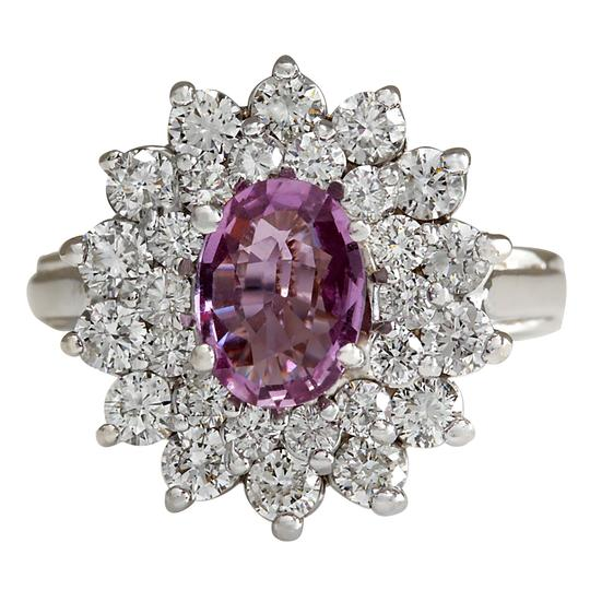 Preload https://img-static.tradesy.com/item/21244929/pink-272-carat-natural-sapphire-14k-white-gold-diamond-ring-0-0-540-540.jpg