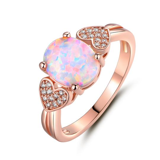 Preload https://img-static.tradesy.com/item/21244937/rose-gold-white-18k-plated-opal-and-cubic-zirconia-size-6-oprb1017-6-ring-0-0-540-540.jpg
