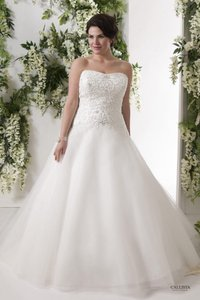 Callista White & Soft Tulle Bahamas Traditional Wedding Dress Size 22 (Plus 2x)