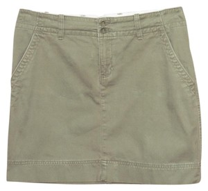 Eddie Bauer Mini Skirt Olive Green Khaki