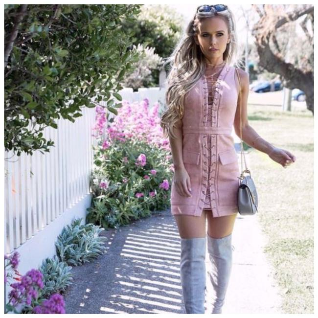 Preload https://img-static.tradesy.com/item/21245037/rose-pink-soft-microfiber-faux-suede-lace-up-pencil-d9-short-casual-dress-size-2-xs-0-0-650-650.jpg