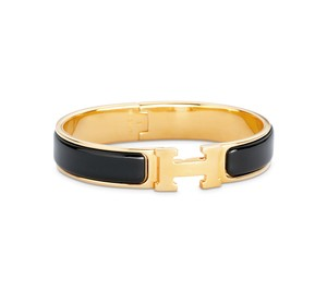 Hermès Hermes Classic Clic H PM Bracelet Cuff Black and Gold