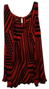 Spense Top red, black multi colors