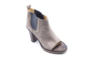 Brunello Cucinelli Women's Ankle Peep Toe gray Boots