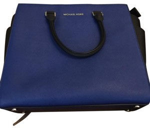 Michael Kors Satchel in Cobalt Blue and Black