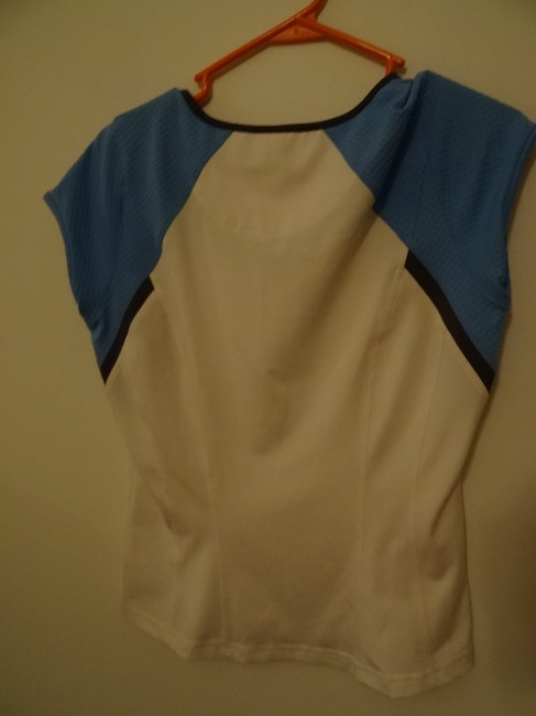 Bollé T Shirt blue and white with light brown trim