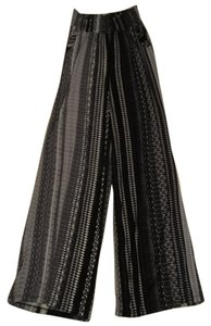 Mossimo Supply Co. Flare Pants grey, black & whites