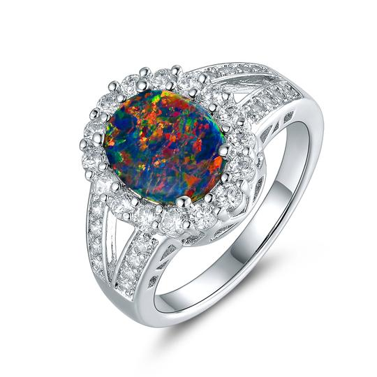 Preload https://img-static.tradesy.com/item/21245268/silver-multi-18k-white-gold-plated-opal-and-cubic-zirconia-size-9-oprb1028-9-ring-0-0-540-540.jpg