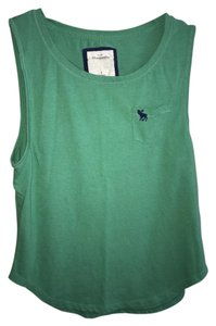 Abercrombie & Fitch Muscle T Shirt Green