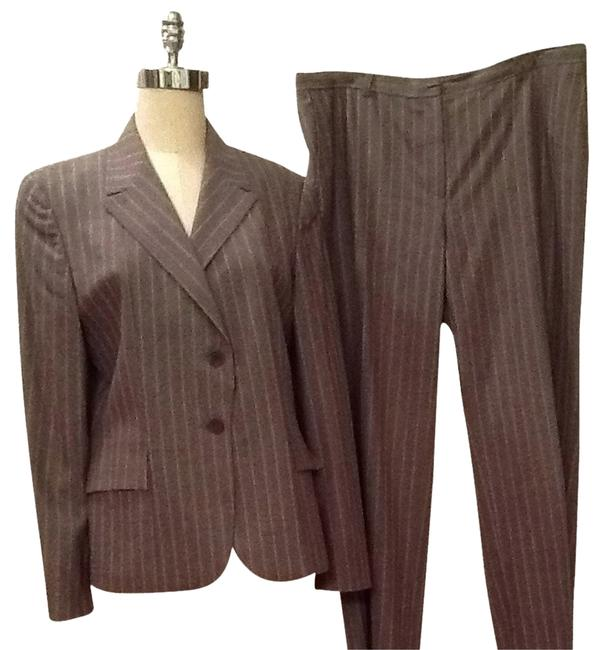 Preload https://item5.tradesy.com/images/zanella-platinum-grey-with-beige-stripes-pant-suit-size-12-l-2124529-0-1.jpg?width=400&height=650
