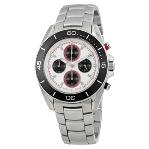 Michael Kors NWT Jetmaster silver dial chronograph watch