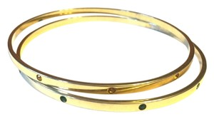 Unknown Gold-tone Gem Bangles