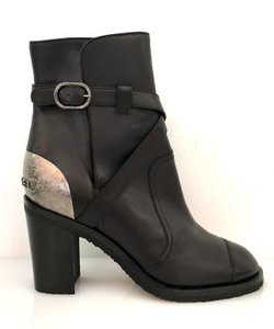 Chanel Gunmetal black Boots