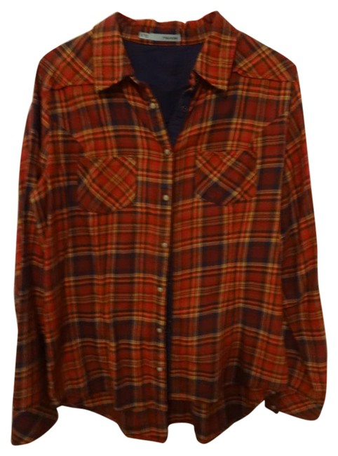 Preload https://img-static.tradesy.com/item/21245354/maurices-red-black-orange-and-browns-button-down-top-size-12-l-0-1-650-650.jpg