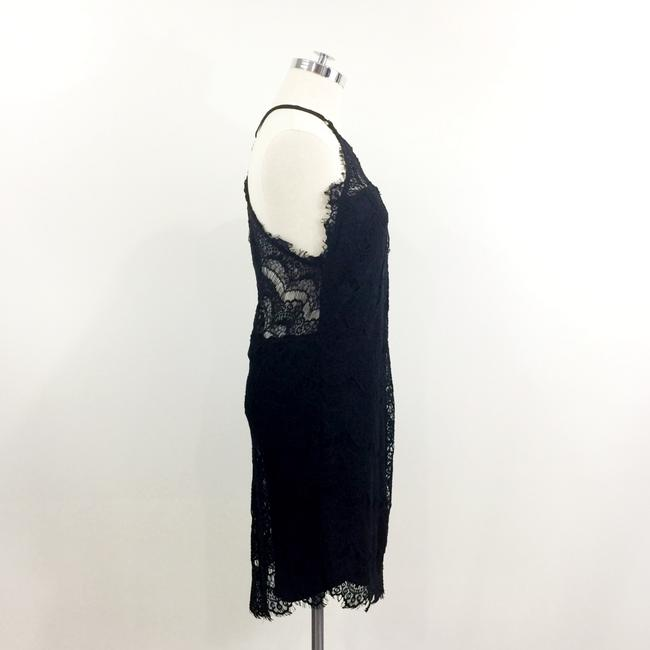 Free People short dress Black Lace Button Fitted Sexy on Tradesy