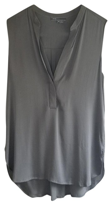 Vince Sleeveless Silk Light Top grey