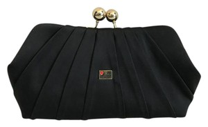 Love Moschino Satin Black Clutch