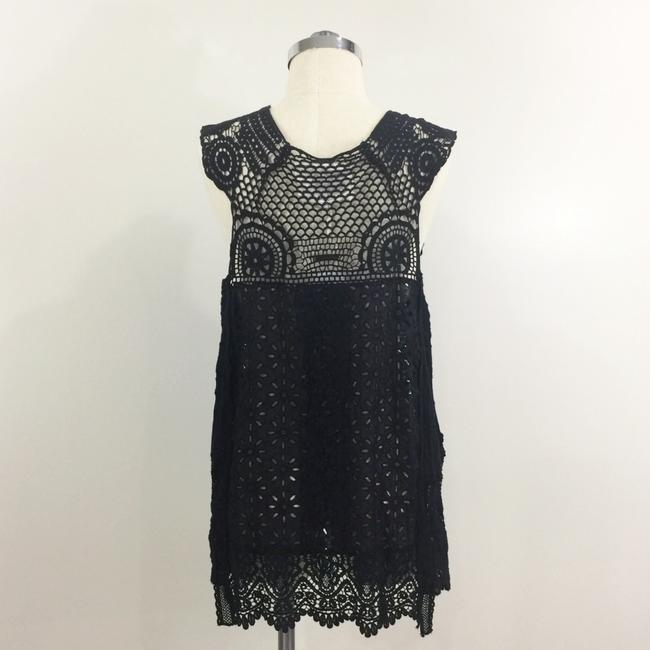 Johnny Was Crochet Lace Patchwork Eyelet Vest