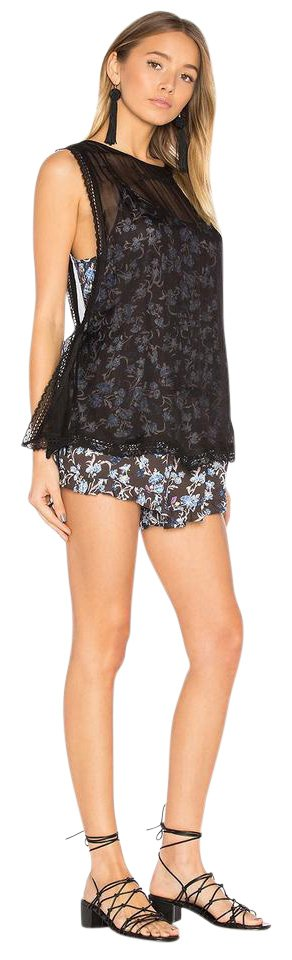 cbbd972d8f3 Free People Black Pretty Baby Printed Romper Jumpsuit 49% off retail