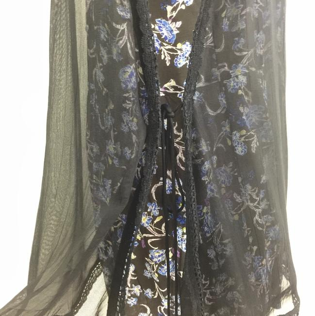 Free People Floral Layered Mesh Embroidered Open Side Dress