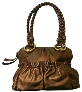 B. Makowsky Leather Braided Shoulder Bag