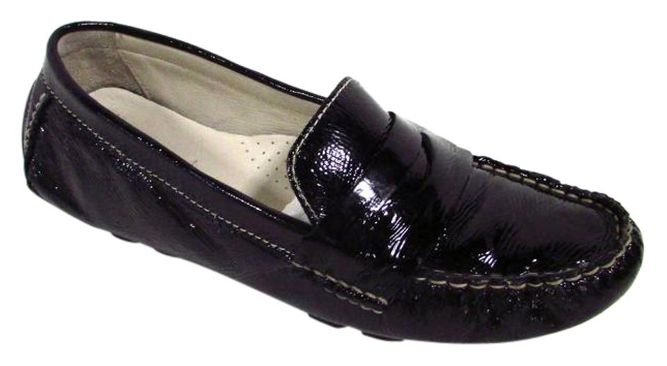 3ee258202dc Cole Haan Black Nike Air Patent Leather Sadie Driver Loafers Flats ...