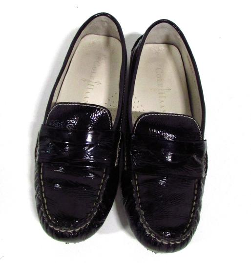 Cole Haan Driver Loafers Patent Casual Black Flats