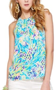 Lilly Pulitzer Top Blue, Green, Orange, Purple, White