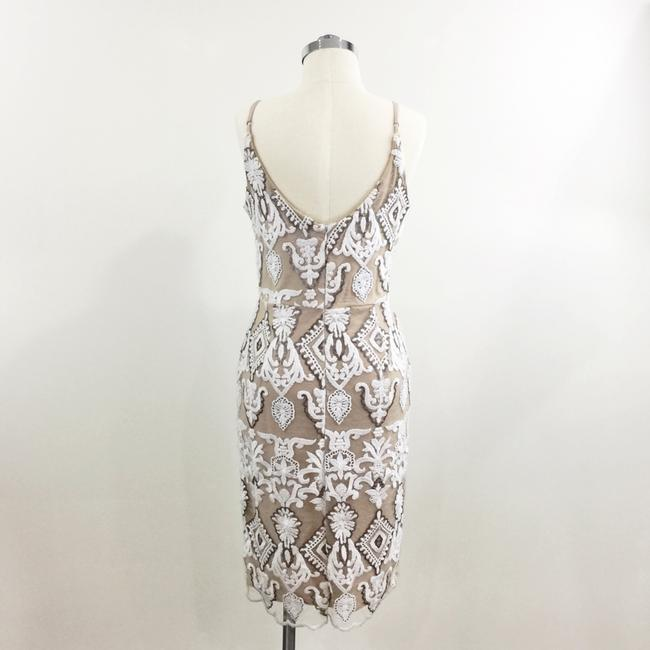 4sienna Lace Sequins Beaded Embroidered Fitted Dress