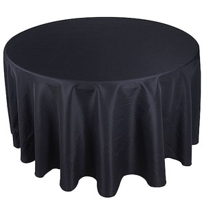 13 120 Inch Round Black Table Cloths
