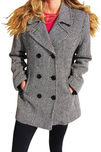 Anne Klein Doublebreasted Buttons Pea Coat