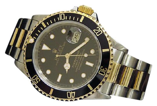 Preload https://img-static.tradesy.com/item/21245776/rolex-black-mens-two-tone-18kss-submariner-16613-watch-0-2-540-540.jpg