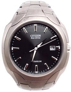 Citizen Men's Citizen BM6560-54H Eco-Drive Titanium Black Dial Date Watch Fit