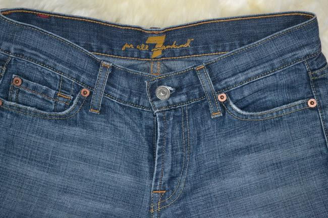 7 For All Mankind Size 26 Boot Cut Jeans-Medium Wash
