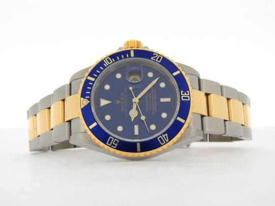 Rolex Mens Rolex Two-Tone 18K/SS Submariner Blue 16613T