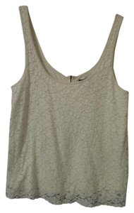 American Eagle Outfitters Lace Tank Top ivory