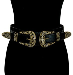 Other Metal detail faux leather stretch belt