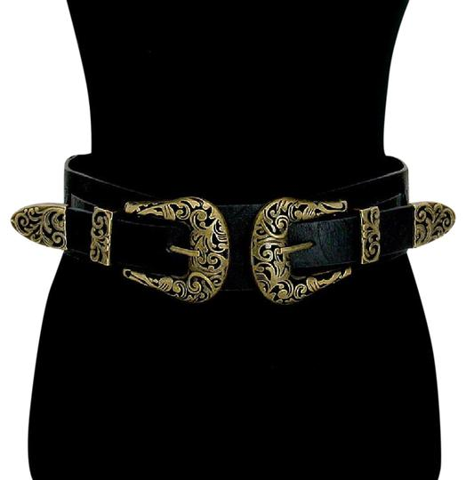 Preload https://img-static.tradesy.com/item/21246201/black-metal-detail-faux-leather-stretch-belt-0-2-540-540.jpg